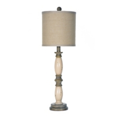 Mandy Cream and Green Table Lamp