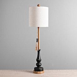 Antique Black Allison Buffet Lamp