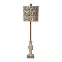Allison Cream Printed Shade Buffet Lamp