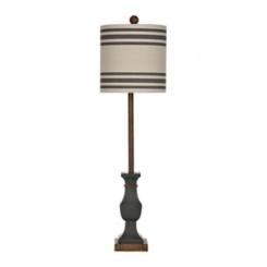 Allison Indigo Striped Shade Buffet Lamp