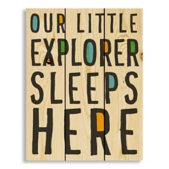 Little Explorer Wood Pallet Art Print