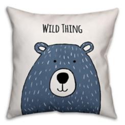 Wild Thing Bear Pillow
