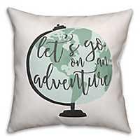 Adventure Globe Pillow