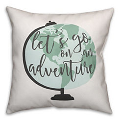 Adventure Globe Pillow