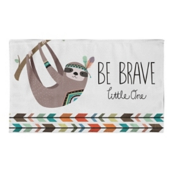 Be Brave Sloth Accent Rug, 3x5