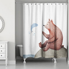 Wildlife Friends Shower Curtain