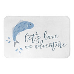 Adventure Fish Bath Mat