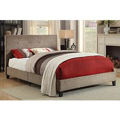 Upholstered Brown Full Platform Bed