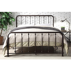 Metal Slat Bronze Queen Platform Bed