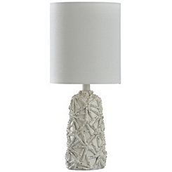 Distressed Starfish Pattern Table Lamp