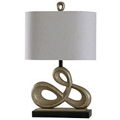 Golden Infinity Sculpture Table Lamp