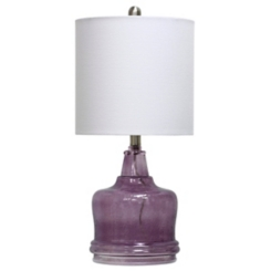 Hammered Indigo Glass Jug Table Lamp