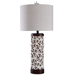 Sand and Starfish Table Lamp