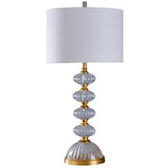 Gold Leaf and Glass Fluted Table Lamp