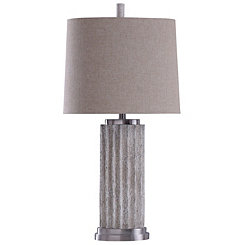 Stone and Steel Table Lamp