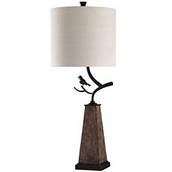 Bird on a Branch Steel Table Lamp