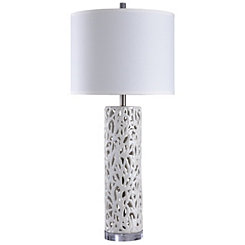 White Mosaic Table Lamp