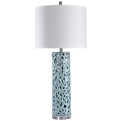 Blue Open Mosaic Table Lamp