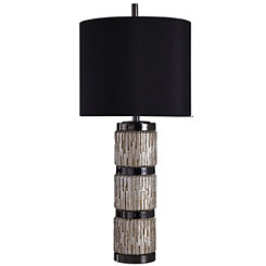 Ribbed Rings Round Table Lamp