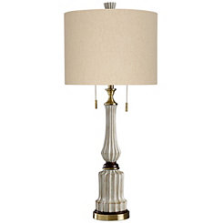 Cream Scalloped Table Lamp