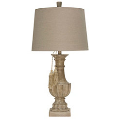 Natural Glazed Urn Table Lamp