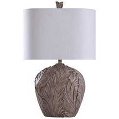 Carved Fern Leaf Table Lamp