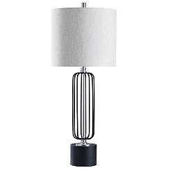 Black Open Metal Table Lamp