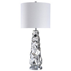 Modern Sculptured Mercury Glass Table Lamp