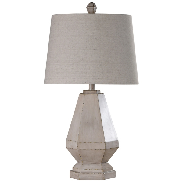 Natural Distressed Diamond Table Lamp