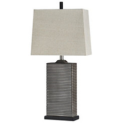 Ribbed Bronze Ceramic Table Lamp