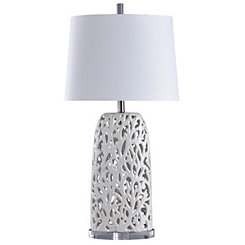 White Coral Mosaic Table Lamp