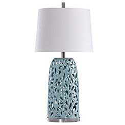 Blue Coral Mosaic Table Lamp