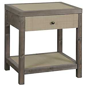 Julian Driftwood Gray Accent Table
