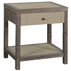 Julian Driftwood Gray Accent Table