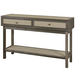 Julian Driftwood Gray Console Table