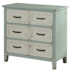 Rustic Blue Hazel 3-Drawer Chest