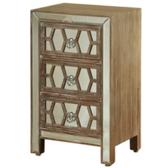 Mirrored Fretwork 3-Drawer Chest