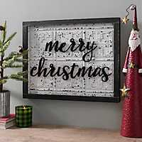Black and White Merry Christmas Plaque