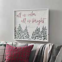 All is Calm LED Trees Wall Plaque