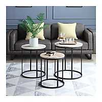 Layla Round Nesting Accent Tables, Set of 3