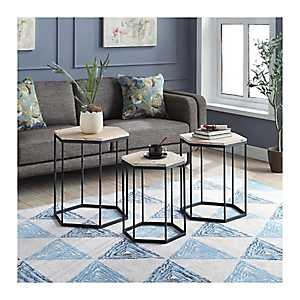 Layla Octagon Nesting Accent Tables, Set of 3