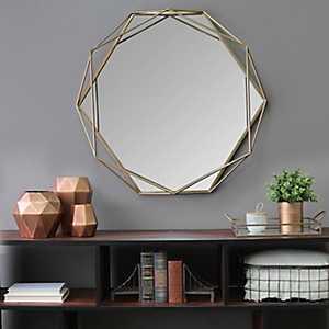Chloe Gold Metal Wall Mirror