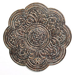 Rustic Bronze Metal Medallion Wall Plaque