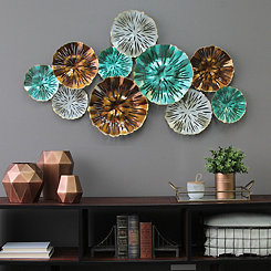 Multicolor Metal Plates Wall Plaque