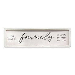 White Family Framed Wall Plaque