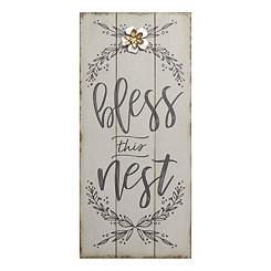 Bless This Nest Rustic Wood Plaque