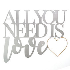 All You Need Is Love Metal Plaque