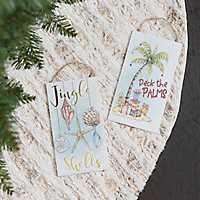 Sent Sign Christmas Ornament, Set of 2