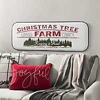 Metal Christmas Tree Farm Wall Plaque