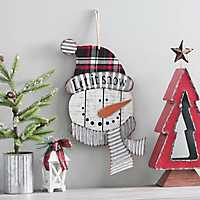 Christmas Snowman Wall Plaque